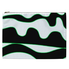 Green, white and black Cosmetic Bag (XXL)