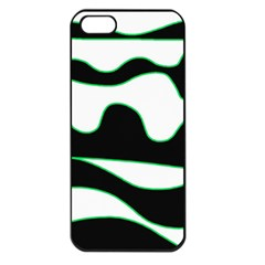 Green, white and black Apple iPhone 5 Seamless Case (Black)
