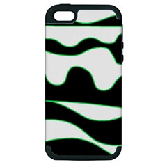 Green, white and black Apple iPhone 5 Hardshell Case (PC+Silicone)