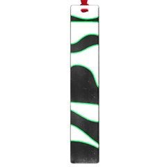 Green, white and black Large Book Marks