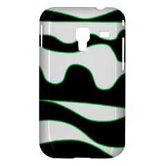 Green, white and black Samsung Galaxy Ace Plus S7500 Hardshell Case