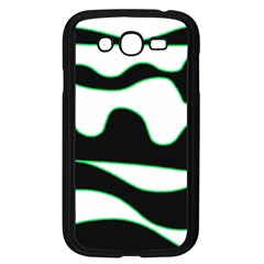Green, white and black Samsung Galaxy Grand DUOS I9082 Case (Black)