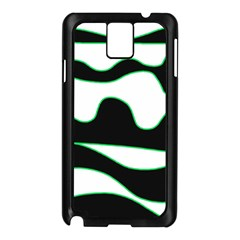 Green, white and black Samsung Galaxy Note 3 N9005 Case (Black)