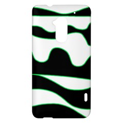 Green, white and black HTC One Max (T6) Hardshell Case