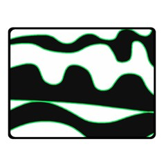 Green, white and black Double Sided Fleece Blanket (Small)