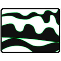 Green, white and black Double Sided Fleece Blanket (Large)