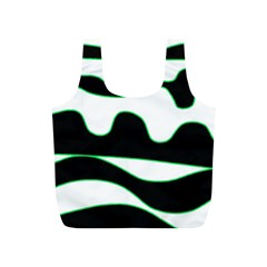 Green, white and black Full Print Recycle Bags (S)