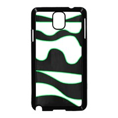 Green, white and black Samsung Galaxy Note 3 Neo Hardshell Case (Black)