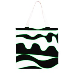Green, white and black Grocery Light Tote Bag
