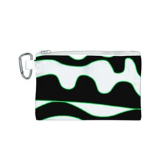 Green, white and black Canvas Cosmetic Bag (S)