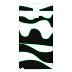Green, white and black Galaxy Note 4 Back Case