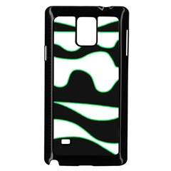 Green, white and black Samsung Galaxy Note 4 Case (Black)