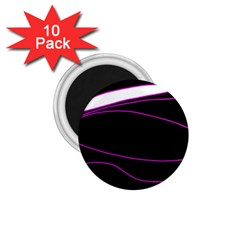 Purple, white and black lines 1.75  Magnets (10 pack)