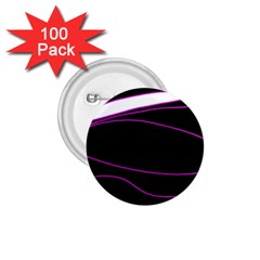 Purple, white and black lines 1.75  Buttons (100 pack)