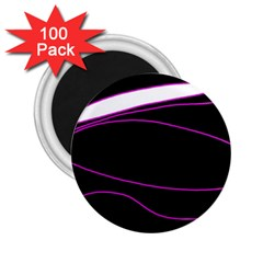 Purple, white and black lines 2.25  Magnets (100 pack)