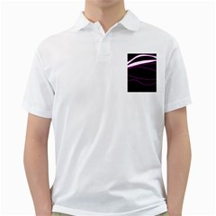 Purple, white and black lines Golf Shirts