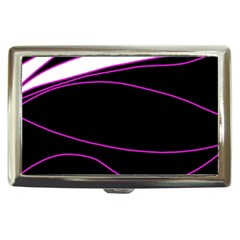 Purple, white and black lines Cigarette Money Cases