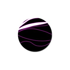 Purple, white and black lines Golf Ball Marker