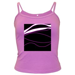 Purple, white and black lines Dark Spaghetti Tank