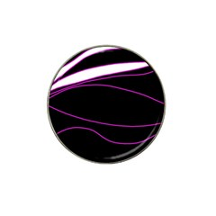 Purple, white and black lines Hat Clip Ball Marker