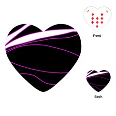 Purple, white and black lines Playing Cards (Heart)