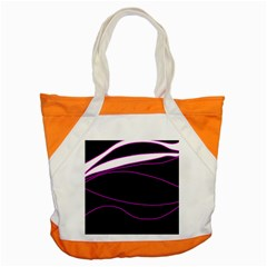 Purple, white and black lines Accent Tote Bag