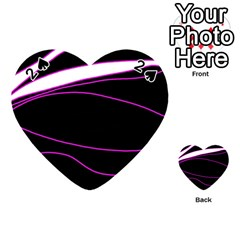 Purple, white and black lines Playing Cards 54 (Heart)
