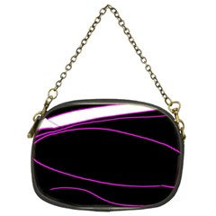 Purple, white and black lines Chain Purses (Two Sides)