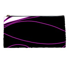 Purple, white and black lines Pencil Cases