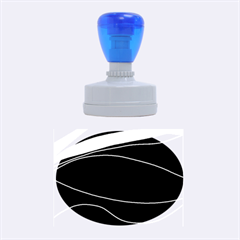 Purple, white and black lines Rubber Oval Stamps