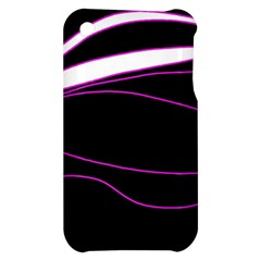 Purple, white and black lines Apple iPhone 3G/3GS Hardshell Case