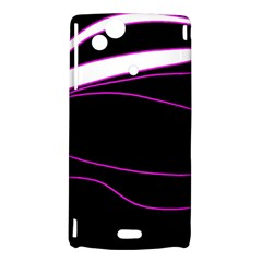 Purple, white and black lines Sony Xperia Arc