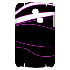 Purple, white and black lines Samsung S3350 Hardshell Case