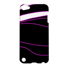 Purple, white and black lines Apple iPod Touch 5 Hardshell Case