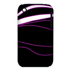 Purple, white and black lines Apple iPhone 3G/3GS Hardshell Case (PC+Silicone)