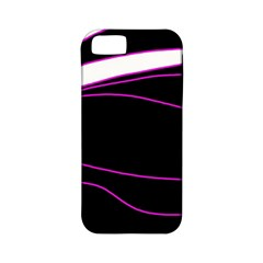 Purple, white and black lines Apple iPhone 5 Classic Hardshell Case (PC+Silicone)