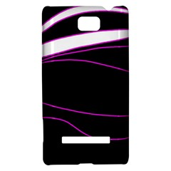 Purple, white and black lines HTC 8S Hardshell Case