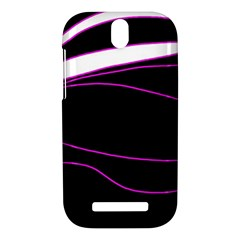 Purple, white and black lines HTC One SV Hardshell Case