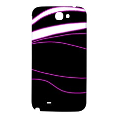 Purple, white and black lines Samsung Note 2 N7100 Hardshell Back Case