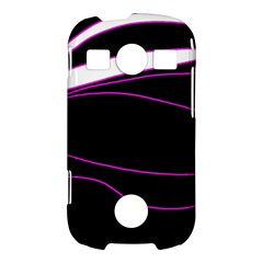 Purple, white and black lines Samsung Galaxy S7710 Xcover 2 Hardshell Case
