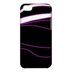 Purple, white and black lines Apple iPhone 5C Hardshell Case