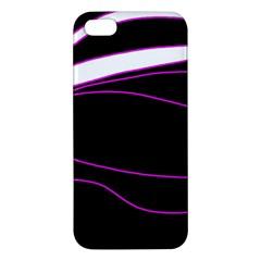 Purple, white and black lines iPhone 5S/ SE Premium Hardshell Case