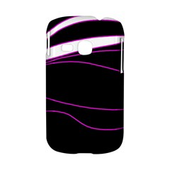 Purple, white and black lines Samsung Galaxy S6310 Hardshell Case