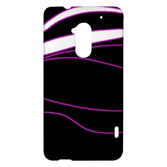 Purple, white and black lines HTC One Max (T6) Hardshell Case