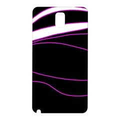 Purple, white and black lines Samsung Galaxy Note 3 N9005 Hardshell Back Case