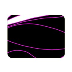 Purple, white and black lines Double Sided Flano Blanket (Mini)