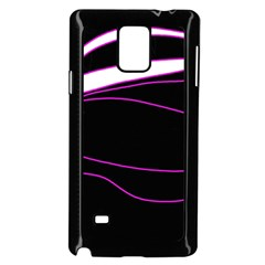 Purple, white and black lines Samsung Galaxy Note 4 Case (Black)