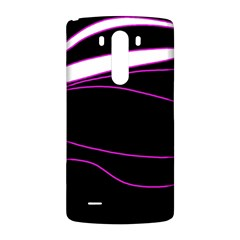 Purple, white and black lines LG G3 Back Case
