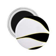 Yellow, black and white 2.25  Magnets