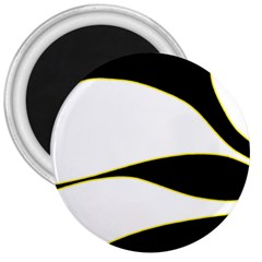 Yellow, black and white 3  Magnets